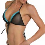 poppy 2pc lingerie set blue